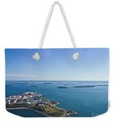 Deer Island In Boston Harbor 14bosl027 Weekender Tote Bag