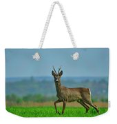 Deer On The Field Weekender Tote Bag
