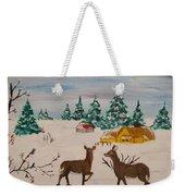Deer Scene Weekender Tote Bag