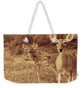Deer Sepia V3 Weekender Tote Bag