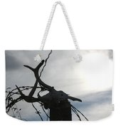 Deer Skull In Wire Weekender Tote Bag