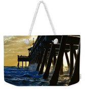Deerfield Beach Pier At Sunrise Weekender Tote Bag