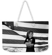 Defiant Girl Desert Storm Troops Welcome Home Celebration Ft. Lowell Tucson Arizona 1991 Weekender Tote Bag