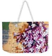 Defining Lilacs Weekender Tote Bag