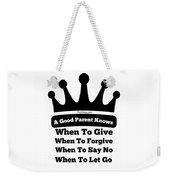 Definition Of A Good Parent Weekender Tote Bag
