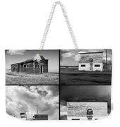Defunct Country Taverns On North Dakota Prairie Composite Square Weekender Tote Bag