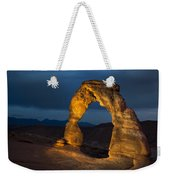 Delicate Arch At Night Weekender Tote Bag by Adam Romanowicz