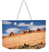 Delicate Arch Famous Landmark In Arches National Park Utah Weekender Tote Bag