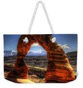 Delicate Arch Framing La Sal Mountains Weekender Tote Bag