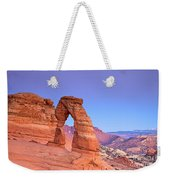 Delicate Arch Sunset Weekender Tote Bag