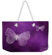 Delicate Butterflies Purple Weekender Tote Bag