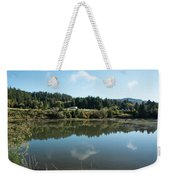 Delicate Clouds Reflected Weekender Tote Bag