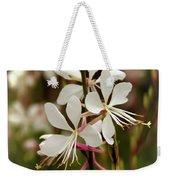 Delicate Gaura Flowers Weekender Tote Bag