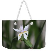 Delicate Pale Purple Iris Weekender Tote Bag