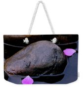 Delicate Petals With Rocks Weekender Tote Bag