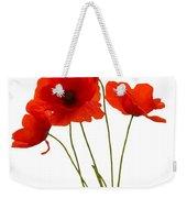 Delicate Red Poppies Vector Weekender Tote Bag