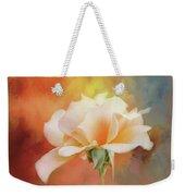 Delicate Rose On Color Splash Weekender Tote Bag