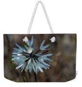 Delicate Silver Wildflower Weekender Tote Bag