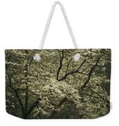 Delicate White Dogwood Blossoms Cover Weekender Tote Bag