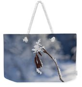 Delicate Winter Weekender Tote Bag