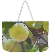 Delicious Yellow Apple In Summer Weekender Tote Bag