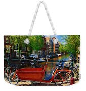Delivery Bike Weekender Tote Bag