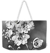 Delphinium Black And White Weekender Tote Bag