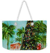 Delray Beach Christmas Tree Weekender Tote Bag