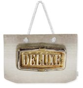 Deluxe Chrome Emblem Weekender Tote Bag