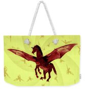 Demon Winged Horse Weekender Tote Bag