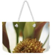 Denmark Close Up Brown Dahlia Weekender Tote Bag