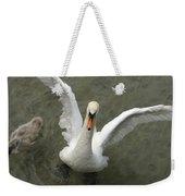 Denmark, Copenhagen Swan Flaps Her Wing Weekender Tote Bag
