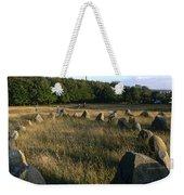 Denmark, Lindholm Hoeje Viking Burial Weekender Tote Bag