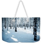 Dense Spruce Snowy Forest Weekender Tote Bag