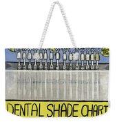 Dental Shade Chart Weekender Tote Bag by Anthony Falbo