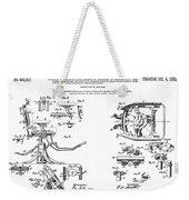 Dentists Chair Patent 1892 Weekender Tote Bag