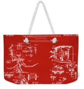 Dentists Chair Patent 1892 In Red Weekender Tote Bag