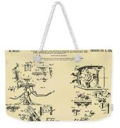 Dentists Chair Patent 1892 In Sepia Weekender Tote Bag