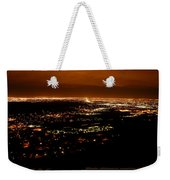 Denver Area At Night From Lookout Mountain Weekender Tote Bag