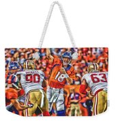 Denver Broncos Peyton Manning Oil Art Weekender Tote Bag