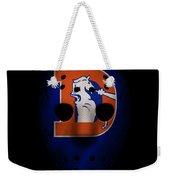 Denver Broncos War Mask 3 Weekender Tote Bag