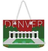 Denver Cheesman Park/maroon Weekender Tote Bag by Sam Brennan