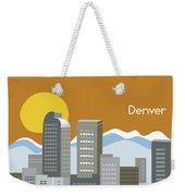 Denver Colorado Horizontal Skyline Print Weekender Tote Bag