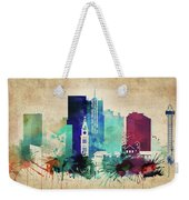 Denver Colorado Vintage Skyline Weekender Tote Bag