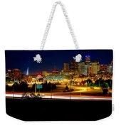 Denver Night Skyline Weekender Tote Bag