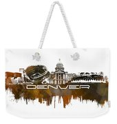 Denver Skyline City Brown Weekender Tote Bag