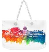 Denver Skyline City Color Weekender Tote Bag