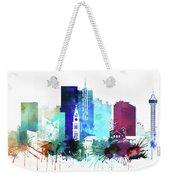 Denver Watercolor Skyline Weekender Tote Bag