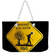 Depressed Buck Hunter Weekender Tote Bag