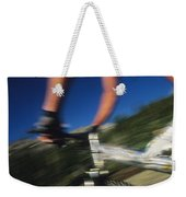 Descending A Mountain Trail Into Yankee Weekender Tote Bag